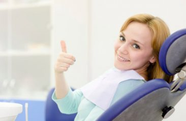 girl in the dental clinic